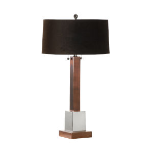 Milano I Copper and Polished Nickel Table Lamp