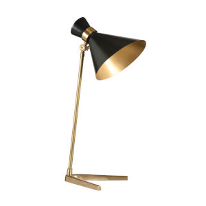 Antique Brass and Black Right Angle Table Lamp