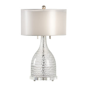 Larson Clear and Silver Table Lamp