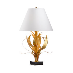 Lilith Antique Gold and Black Table Lamp