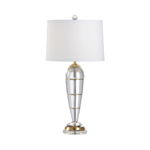 Peninsula Clear and Antique Brass Table Lamp