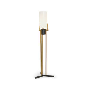 Irvine Antique Brass and Opaque White Table Lamp