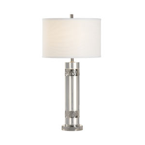Nichel Clear and Polished Nickel Table Lamp