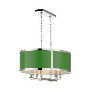 High Street White and Polished Nickel Chandelier