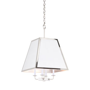 High Street Polished Nickel and White Island Pendant