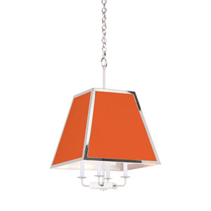 High Street Polished Nickel and Red Island Pendant