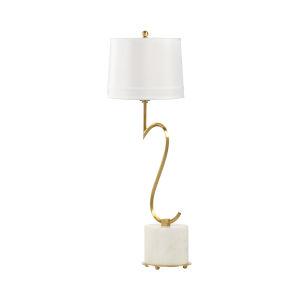 Swirl Natural White and Gold Table Lamp