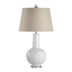 Coastal White Glaze One-Light Table Lamp