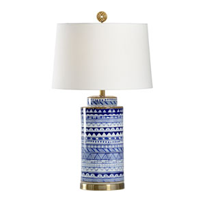Coastal Blue and White One-Light Table Lamp