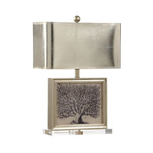Mt. Vernon Ambered Silver Leaf One-Light Table Lamp