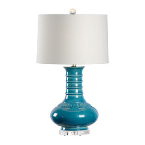 Traditions Made Modern Turquoise Blue Glaze One-Light Table Lamp