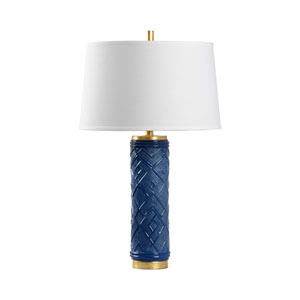 Traditions Made Modern Blue Glaze One-Light Table Lamp