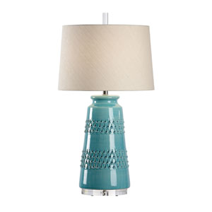 Vietri Aqua Glaze One-Light Table Lamp