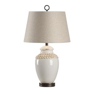 Vietri Aged Cream Glaze One-Light Table Lamp