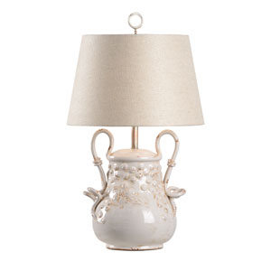 Vietri Aged Cream Glaze One-Light Table Lamp