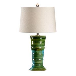 Vietri Aquamarine Glaze One-Light Table Lamp