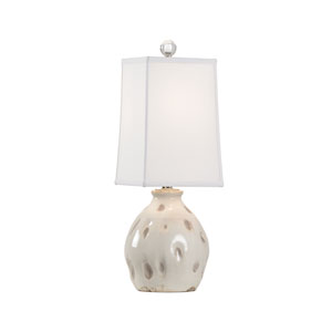 Vietri Aged Cream and Taupe Glaze One-Light Table Lamp