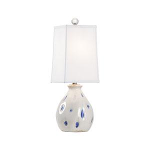 Vietri Aged Cream and Cobalt Glaze One-Light Table Lamp