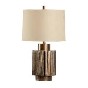 Transitional Antique Bronze One-Light Table Lamp