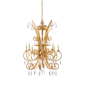 Biltmore Antique Gold Leaf Eight-Light Chandelier