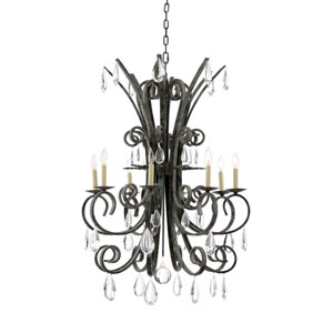 Biltmore Antique Verdi Eight-Light Chandelier