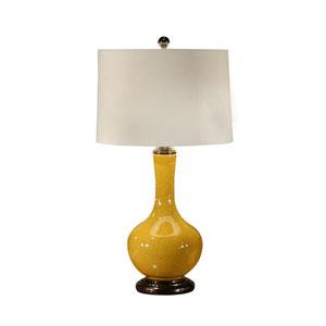 MarketPlace Mustard Crackle Glaze One-Light Table Lamp