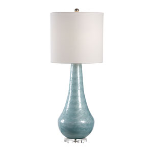 MarketPlace Aqua Blue Enamel One-Light Table Lamp