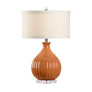 MarketPlace Orange Glaze One-Light Table Lamp