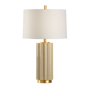 MarketPlace Camel Tan Crackle Glaze One-Light Table Lamp