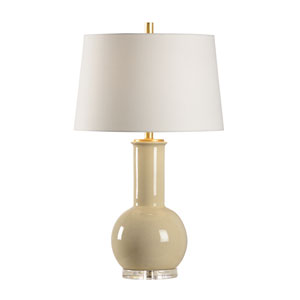 MarketPlace Camel Tan Glaze One-Light Table Lamp
