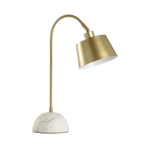 MarketPlace Antique Brass One-Light Table Lamp