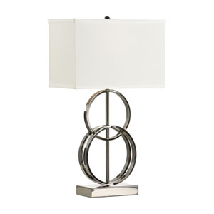 MarketPlace Black Nickel One-Light Table Lamp