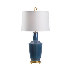 MarketPlace Turkish Blue Glaze One-Light Table Lamp