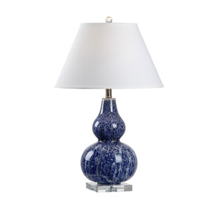 MarketPlace Blue and White One-Light Table Lamp