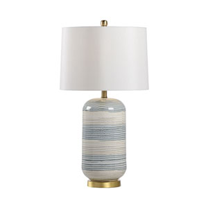 MarketPlace Blue and Cream Glaze One-Light Table Lamp