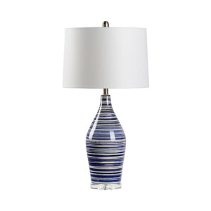 MarketPlace Blue and White Glaze One-Light Table Lamp