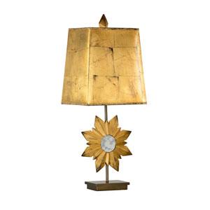 Antique Gold Leaf One-Light Table Lamp