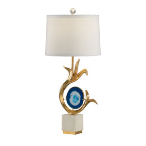 Gold Leaf One-Light Table Lamp