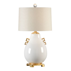 Transitional Snow White Glaze One-Light Table Lamp