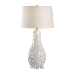 Transitional Oyster White Glaze One-Light Table Lamp
