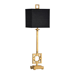 Transitional Antique Gold Leaf One-Light Table Lamp