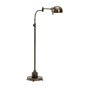 Transitional Bronze One-Light Floor Lamp