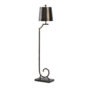Transitional Scorched Bronze One-Light Floor Lamp