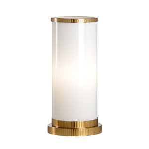 Transitional Antique Brass One-Light Table Lamp