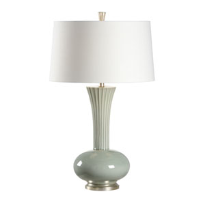 Transitional Eucalyptus Green Glaze One-Light Table Lamp