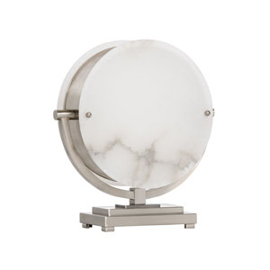 Natural White Silver Two-Light Table Lamp