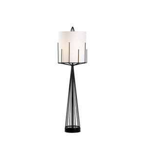 Satin Black One-Light Table Lamp