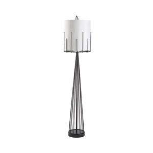 Satin Black Four-Light Table Lamp