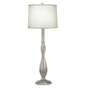 Satin Nickel One-Light Buffet Lamp
