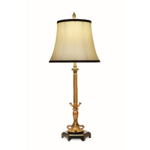French Gold and Matte Black 31-Inch One-Light Table Lamp